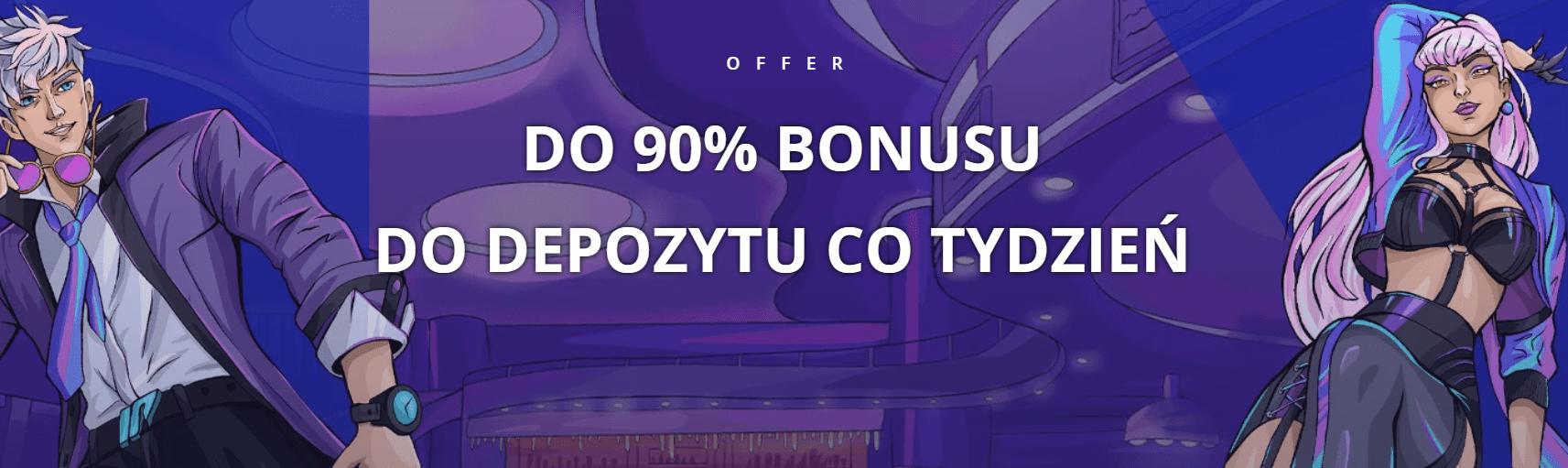 Do 90% bonusu